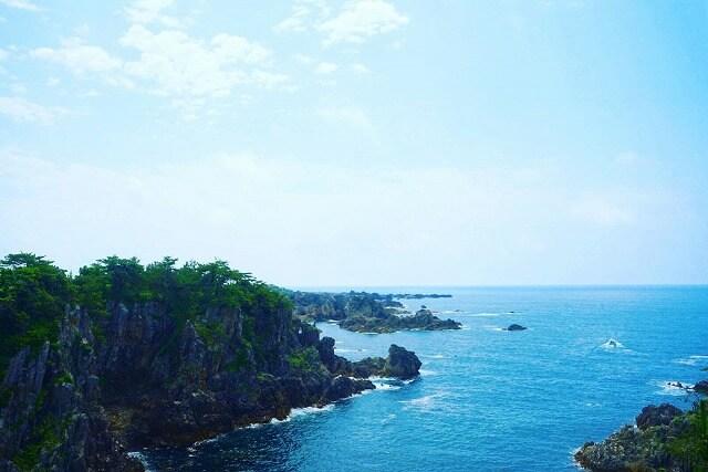 尖閣湾の景色