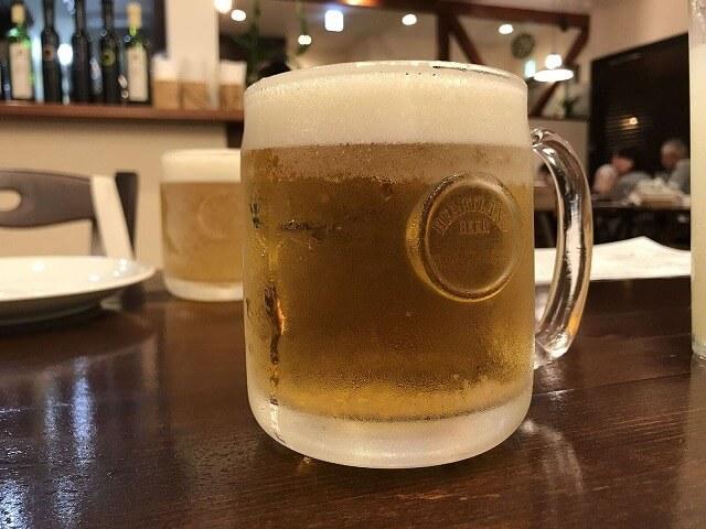 「デビンコ」の生ビール